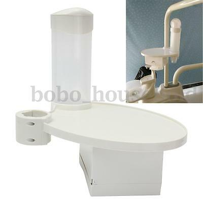Plastic Dental Chair Accessories Disposable Cup Storage Holder Post Mounted Tray