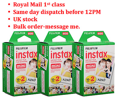 Fuji Instax Mini Film for Fujifilm Mini 8 7s & Mini 90, 50 Cameras (100 shots)