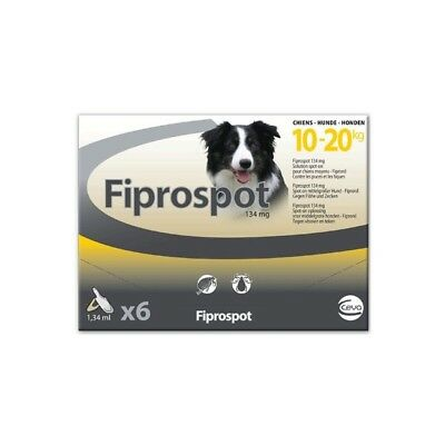 Fiprospot Antiparasitaire Chiens Moyens 10-20 Kg 6 Pipettes 1.34Ml Fipronil