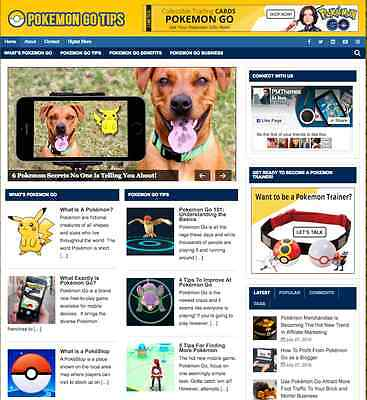 "Established ""Pokemon GO"" Niche Affiliate Website Turnkey Business For Sale - NEW"