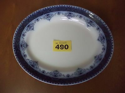 Leighton Pottery B & L.B Flow Blue SOLENT - 27 cm Oval Meat Serving Plate