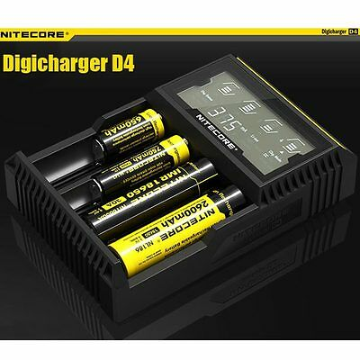 NITECORE DigiCharger D4 LCD chargeur Universel intelligent pile 18650 NiMh Akku