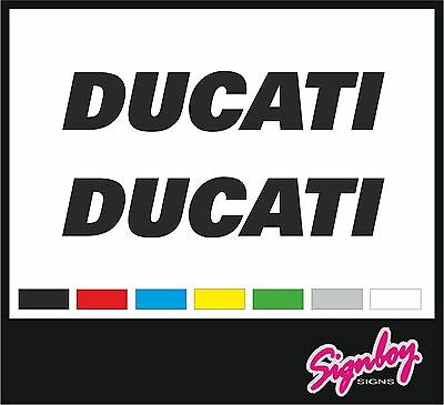 2 x DUCATI Vinyl Tank Decals / Stickers -.PREMIUM QUALITY Panigale Monster