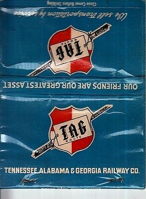 Tennessee, Alabama & Georgia Railway Co. TAG Map Old Matchcover