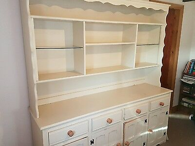 large victorian solid wood shabby chic dresser sideboard cupboard furniture
