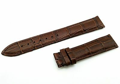 Genuine Leather Strap/Band fit Omega Watch D-Brown 18mm 19mm 20mm Buckle/Clasp