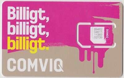 Sweden= Vintage Sim Card - Comviq = Collectable Item- Not For Use In Mobile