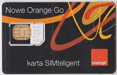 Poland = Vintage Sim Card - Orange Go = Collectable Item- Not For Use In Mobile