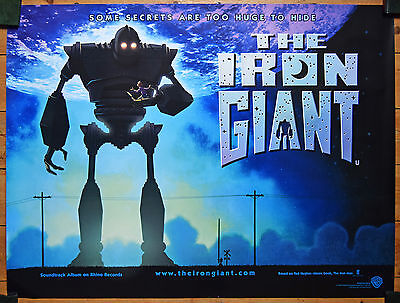 The Iron Giant Original Teaser Quad Poster 1999
