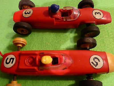 Vintage Scalextric Lotus and Porsche Racing cars