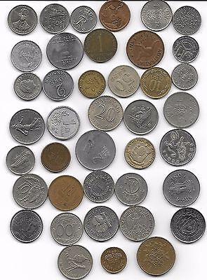 World x 40 Mixed Coins Mainly all Differant