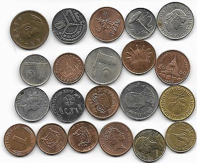 World x 20 Mixed Smaller Coins all Differant