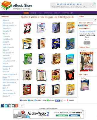 eBook/Download Shop Website For Sale
