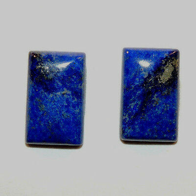 Lapis Lazuli Pair of Cabochons 14.5x9mm with 3.5mm dome (11696)