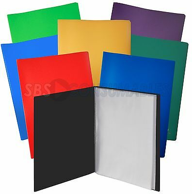 A4 Display Book/Presentation Folder Flexi Cover 10/20/30/40/50/60/80/100 Pockets