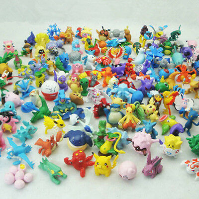 Cute 48pcs Mixed Pokemon Go Monster Mini Action Figures Doll Set Kids Toy Gift