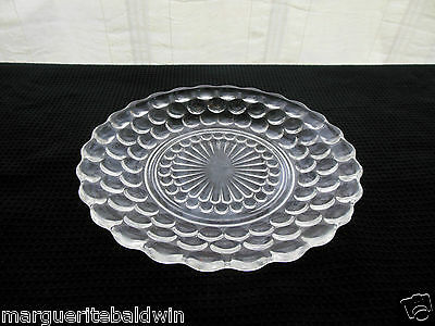 """Anchor Hocking Glass Clear Bubble 6 3/4"""" Bread & Butter Plate Saucer"""