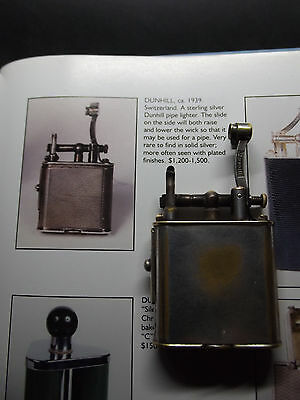 Rare vintage  Dunhill Pipe petrol lighter...fully working
