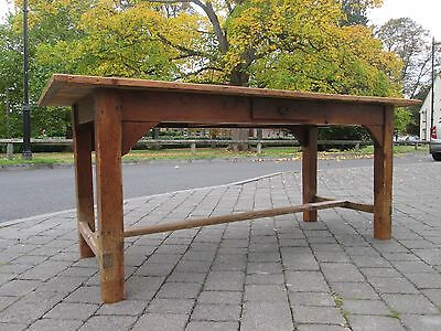 Lovely Antique 6ft Long Rustic French Country Farmhouse Kitchen Dining Table