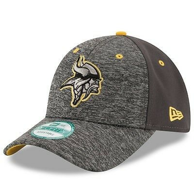 Minnesota Vikings New Era 9Forty Shadow Adjustable Cap - Heather Grey/Graphite