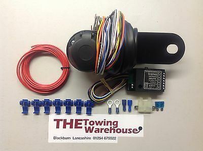 13 Pin Euro Electric Towbar Towing Wiring Kit 7way bypass relay cambus