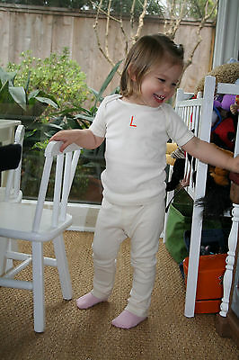 Organic unbleached cotton baby Yoga pants 0, 3, 6, 12, 18 and 24 months Toddler