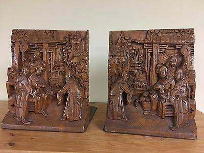 Rare Carved Chinese Bookend George Zee  & Co Hong Kong