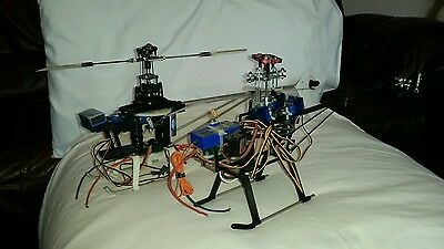 2 r/c helicopters +sanwa rd 8000+airbrush