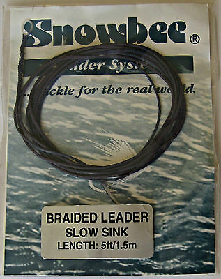 Snowbee Braided Leader Slow Sink 5ft for Fly Fishing