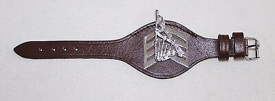 Army Pipe Majors Leather Wrist Rank