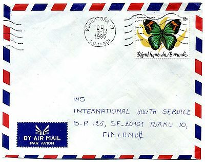 Burundi 1984 65F Butterfly SG1435 on cover