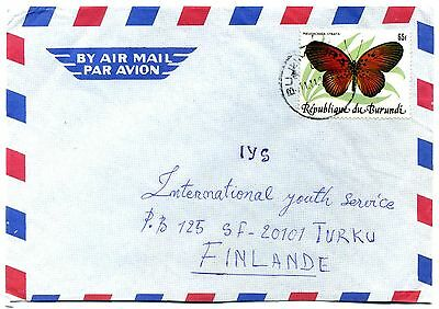 Burundi 1984 65F Butterfly SG 1434 on cover