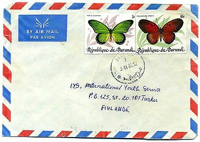 Burund 1984 Butterflies 65F SG1434 and 5F SG1426 on cover
