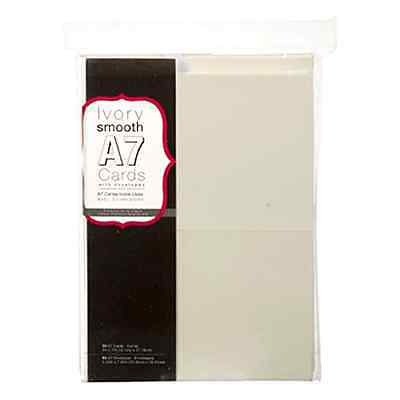 "150 Ivory Blank Greeting Cards and Envelopes 5"" x 7"" A7 Notes Office Invitations"