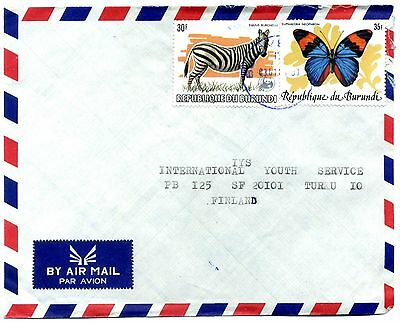 Burundi cover '83 30F Zebra with WWF opt SG1404  & 1984 35F Butterfly SG1433