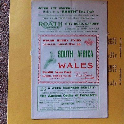 Wales V South Africa 1951