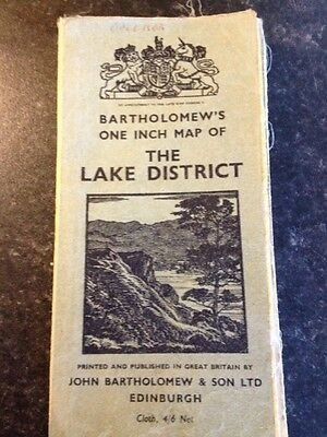 Bartholomew's One Inch Map Of The Lake District