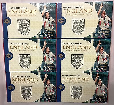 72 Packs x England Upper Deck Company Collectible Trading Cards 1998 World Cup