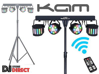 NEW KAM DERBY FX BAR - LED PAR CAN  With Remote, Stand and Bag - FREE P&P