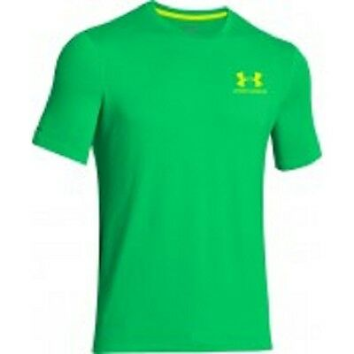 Under Armour men's charged cotton t shirt size XL GREEN  fitness running golf