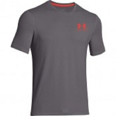 Under Armour men's charged cotton t shirt size XL GREY  fitness running golf