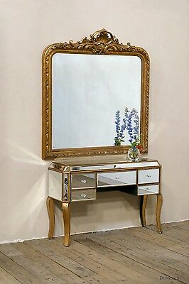 DUSX Versailles Gold French Rococo Overmantle Bevelled Mirror