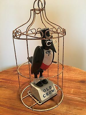 Vintage Old Crow Kentucky Whiskies Caged Crow Advertising Piece Rare