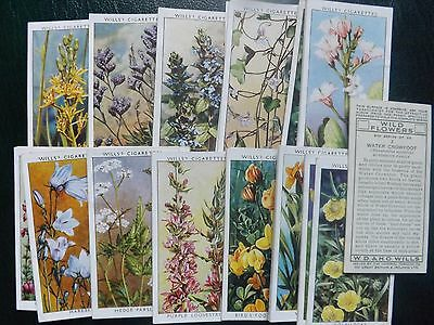 WILD FLOWERS(2nd Series) -  Complete Set Of 50 - WILL's -  VG+ - Nice Clean Set