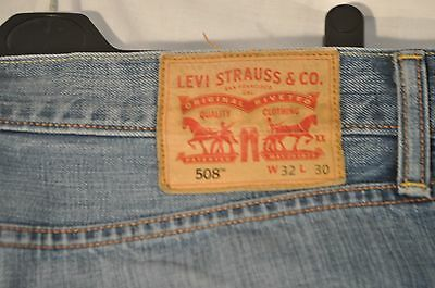Vintage levis jeans 508 W 32 L 30 red tab zip fly straight leg