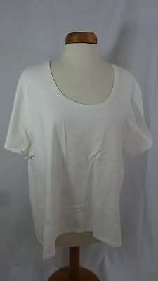 NWT Women's Nine & Co. White Cotton Short Sleeve T-Shirt - Size 2X