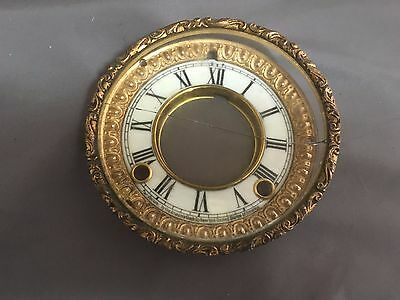 Antique Ansonia Beveled Crystal, Bezels & Face Mantle Clock