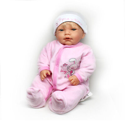 Realistic Newborn Baby Girl Doll With Hair - Lifelike 45cm Dolls (or to reborn)