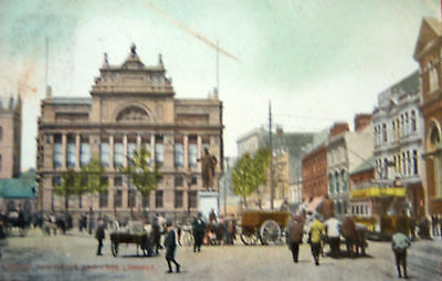 Nice Vintage Postcard - The Hayes And Free Library,cardiff -  Posted 1908