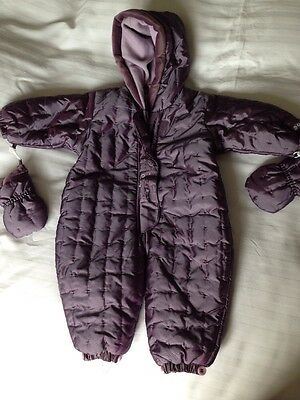 Girls Snowsuit Age 3-6 Months Purple Mini Mode